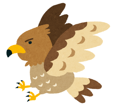 勇ましい鷹のイラスト