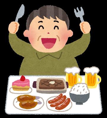 肉中心の豪勢な食事