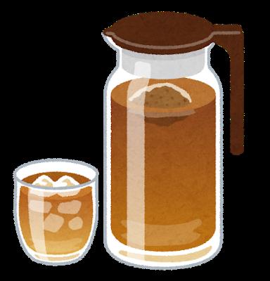 ピッチャーと麦茶のイラスト