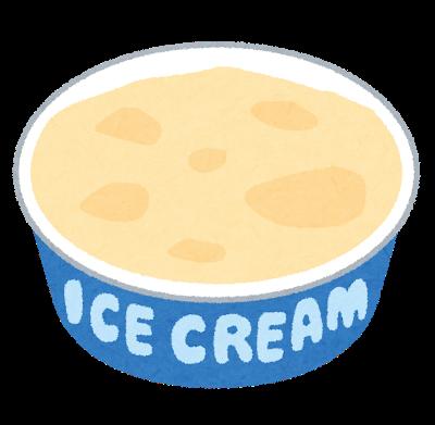 カップアイスのイラスト