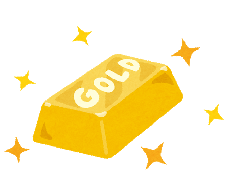 金塊のイラスト