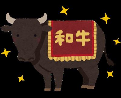 黒毛和牛のイラスト