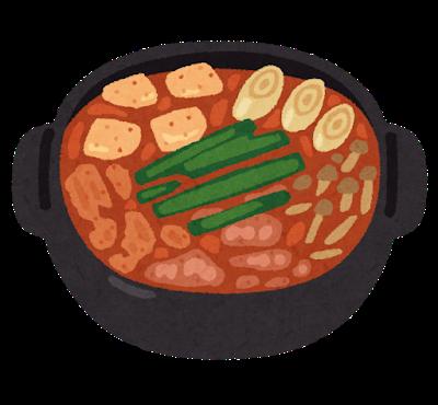 キムチ鍋のイラスト