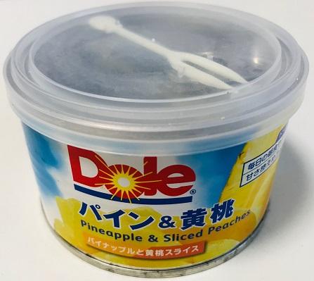 パイン&黄桃の缶詰(Dole)