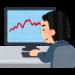 仮想通貨のチャートを眺める男性(いらすとや)